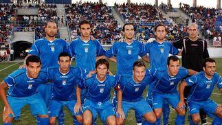 La formación inicial del Xerez Deportivo que saltó al terreno de juego  Foto: Ramon Aguilar