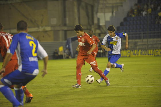 El Sevilla cae en los penaltis en la semifinal del Trofeo Carranza ante el Espanyol. / Kiki
