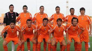 Once inicial que alineó Javi López sobre el césped del estadio Bahia Sur  Foto: Elias Pimentel