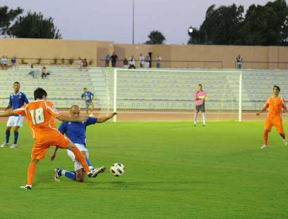 Pablo Redondo hizo el primer gol, Luisma el segundo y el delantero sevillano Antoñito cerró la cuenta   Foto: Elias Pimentel