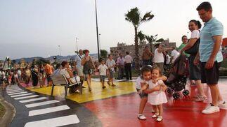 Inauguración del parque dedicado al cine, ubicado en el malagueño barrio de Teatinos.  Foto: Migue Fernández