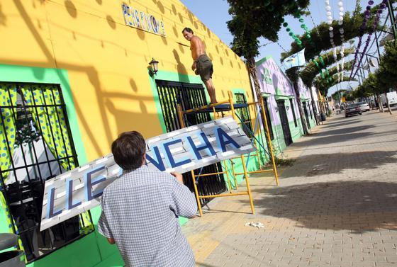 El Real Cortijo de Torres se prepara para la Feria de Málaga.