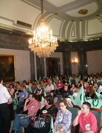 Reunión en la Casa de la Provincia  Foto: CSIF