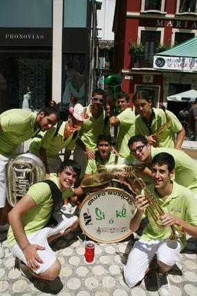 El grupo musical Si ó Ké, con sus instrumentos musicales.  Foto: PUNTO PRESS