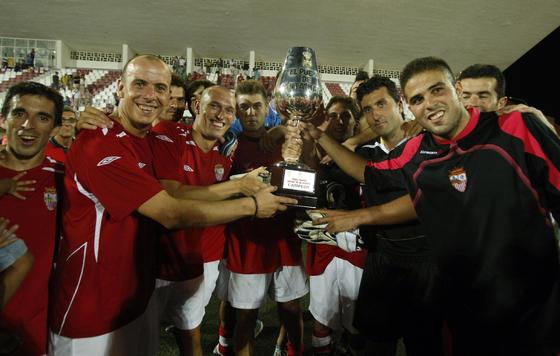 Finalmente, la organización no tuvo en cuenta los penaltis y otorgó el trofeo al Portuense por acumular un mayor número de goles.   Foto: Fito Carreto