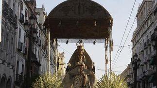 Procesión de la Virgen de los Reyes el domingo 15 de agosto.  Foto: José Ángel García
