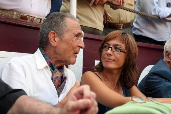 María Gámez y Antonio Gala no quisieron perderse la cita taurina.  Foto: Sergio Camacho