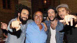 Marcos del Ojo, Faustino Rodríguez, Muchachito Bombo Infierno y Macaco  Foto: Miguel Angel Gonzalez