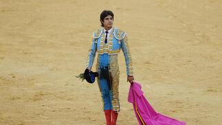 Sebastián Castella durante la corrida de toros en La Malagueta.  Foto: Sergio Camacho