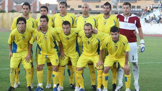 El primer once del Cádiz en partido oficial esta temporada.   Foto: LOF