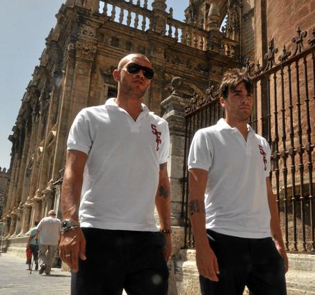 Los italianos Guarente y Cigarini.  Foto: Manuel Gómez