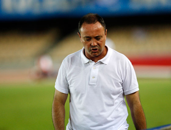 El técnico del Cartagena, Juan Ignacio Martínez, considera que la clave del triunfo de su equipo estuvo en la efectividad.  Foto: Juan Carlos Toro