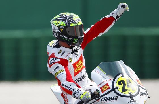 Toni Elías, vencedor en Moto2 en el Gran Premio de San Marino.  Foto: Reuters