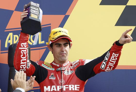 Julián Simón, segundo en el Gran Premio de San Marino de Moto2.  Foto: Reuters