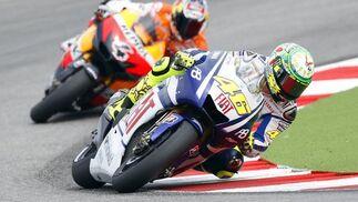 Valentino Rossi, durante el Gran Premio de San Marino.  Foto: Reuters