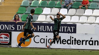 Ruben Castro festeja el primer gol bético. / LOF