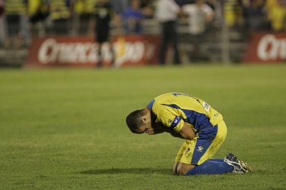 Cifu dispuso de una clara ocasión de gol ya en el descuento pero el meta Alberto rechazó su lanzamiento.  Foto: Jesus Marin