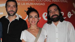 Los bailaores Andrés Martín e Isabel Bayón y Jesús Torres, guitarrista y compositor  Foto: Victoria Ramírez