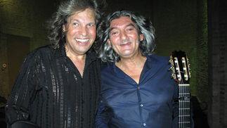José Mercé y Moraíto Chico, tras su actuación.  Foto: Victoria Ramírez