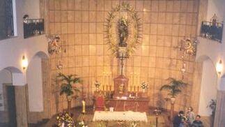 Entierro de Santa Ángela en el convento.