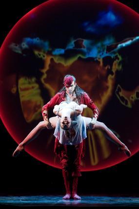 Espectáculo 'Onegin' del ballet Eiffman de Rusia.