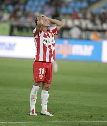 El Almería sigue sin ganar en Liga tras perder en la cuarta jornada en casa contra el Levante. / Javier Alonso