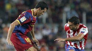 El Barcelona gana por la mínima su primer partido sin Leo Messi. / EFE