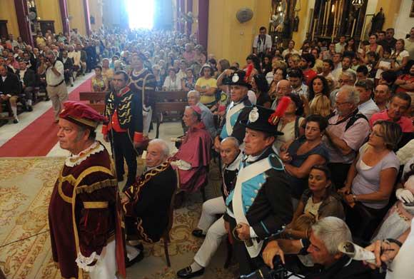 42 actores recrean el cuadro 'Juaramento de Las Cortes Generales y Extraordinarias de 1810' de José Casado del Alisal  Foto: Elias Pimentel