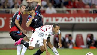 El Sevilla deja escapar otros dos puntos del Sánchez Pizjuán. / EFE