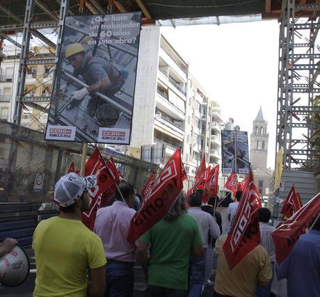 Comisiones Obreras se manifiesta en favor de la mejora de las condicines laborales.  Foto: José Ángel García