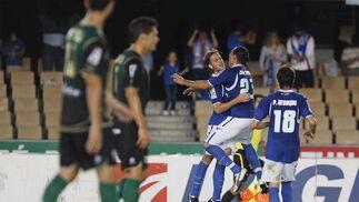 Los azulinos realizaron su mejor encuentro de la temporada en el día del 63 cumpleaños de la entidad y consiguieron imponerse 2-0   Foto: Pascual