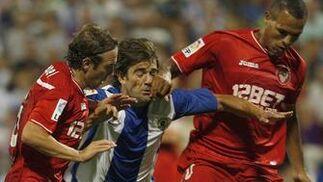 El Sevilla prolonga su mala racha al caer en Alicante ante el Hércules. / Reuters