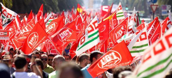 Jornada de huelga en Málaga
