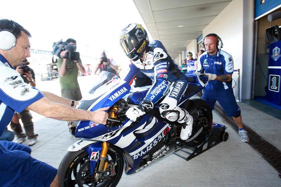 Jorge Lorenzo mostró su frustración tras quedar a medio segundo de la Honda de Pedrosa  Foto: Juan Carlos Toro