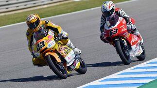 El alemán Sandro Corteseen el arranque del campeonato de 125cc ha logrado hacerse con el mejor tiempo en la segunda jornada de entrenamientos libres   Foto: Mateo
