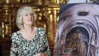 La Duquesa de Cornualles, Camilla, en la capilla del Palacio de San Telmo.  Foto: Eduardo Abad (EFE)
