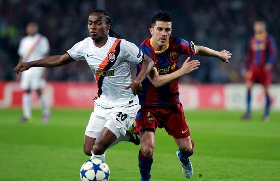 El Barcelona golea al Shakhtar en la ida de los cuartos de final de la 'Champions'. / EFE
