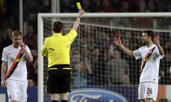 El Barcelona golea al Shakhtar en la ida de los cuartos de final de la 'Champions'. / Reuters