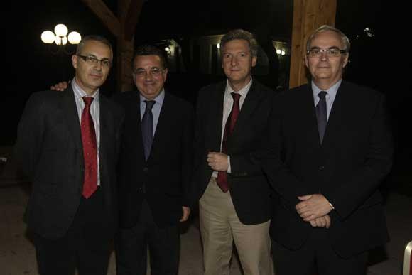 Juan Lozano, concejal de puerto, Alejandro López, Rafael Olivares y Eduardo Villalba, de la APBA./Fotos:Erasmo Fenoy  Foto: Erasmo Fenoy