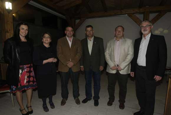 Elena Andrades, Teresa Doñate, Jorge Romero, Manuel Melero, José Miguel Vega y Manuel Carrasco del PA./Fotos:Erasmo Fenoy  Foto: Erasmo Fenoy