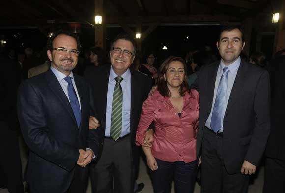 Juan Luis Castro (astillero Cernaval), Miguel Maqueda (FECG), Laura Pinteño (pta. LECG), Manuel Piedra (Aesba)./Fotos:Erasmo Fenoy  Foto: Erasmo Fenoy