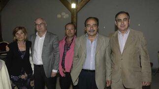 Ángeles Salas (PP), Juan Roca(PIVG), MIguel Ayllón (PIVG), Jesús Mayoral (PIVG), Francisco Pineda (PP).Fotos:Erasmo Fenoy  Foto: Erasmo Fenoy
