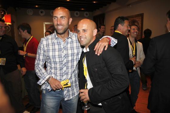 Raúl López y Velázquez, ambos aún en activo.   Foto: Jesus Marin