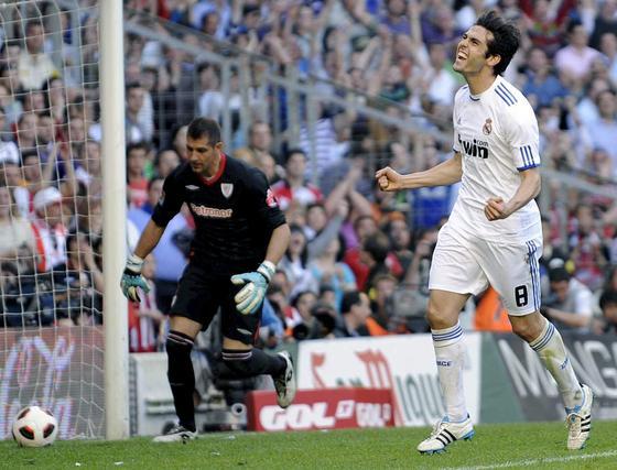 Kaká celebrando su gol.  Foto: efe