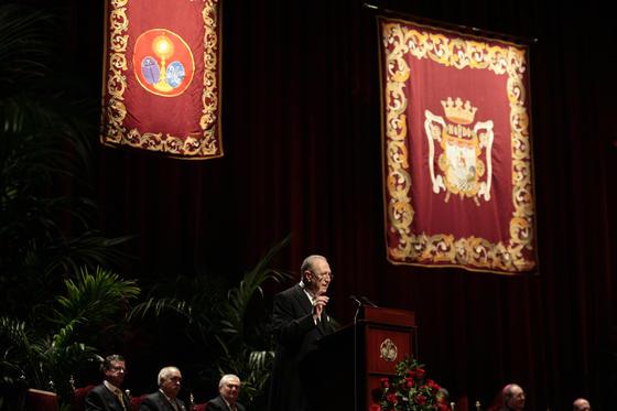 Cano-Romero durante el pregón.  Foto: Juan Carlos Munoz