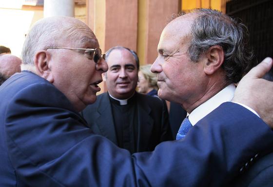 El presidente del Consejo de Cofradías tras el acto.  Foto: Juan Carlos Munoz