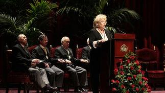 Rosamar Prieto en la presentación del pregonero.  Foto: Juan Carlos Munoz