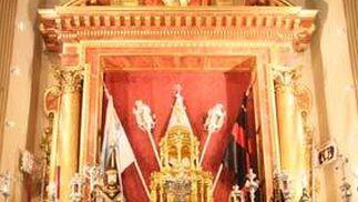Altar de insignias de la Sed.  Foto: A.S.Carrasco