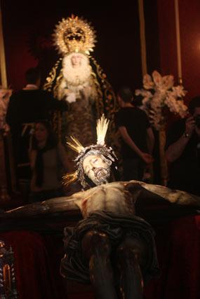 El Cristo del Buen Fín y la Virgen de la Palma.  Foto: A.S.Carrasco