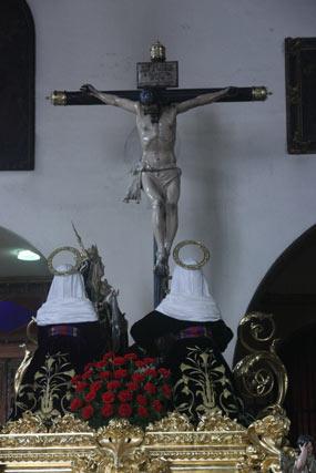 El paso del Cristo de la Siete Palabras en San Vicente.  Foto: A.S.Carrasco
